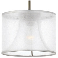 Fredrick Ramond FR45607BNI Mime 1 Light 9 inch Brushed Nickel Mini-Pendant Ceiling Light in Sheer Hardback alternative photo thumbnail