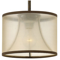 Fredrick Ramond FR45607FBZ Mime 1 Light 9 inch French Bronze Mini-Pendant Ceiling Light in Translucent Amber alternative photo thumbnail