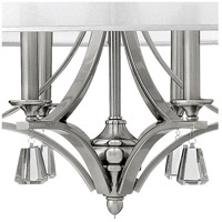 Fredrick Ramond FR45608BNI Mime 6 Light 30 inch Brushed Nickel Foyer Ceiling Light in Sheer Hardback, Single Tier alternative photo thumbnail