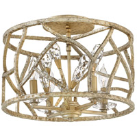 Fredrick Ramond FR46801CPG Eve 4 Light 16 inch Champagne Gold Semi-Flush Mount Ceiling Light alternative photo thumbnail