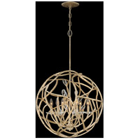Fredrick Ramond FR46807CPG Eve 6 Light 24 inch Champagne Gold Chandelier Ceiling Light, Single Tier alternative photo thumbnail
