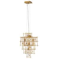 Fredrick Ramond FR47884LGD Petra 4 Light 24 inch Luster Gold Chandelier Ceiling Light