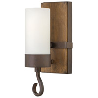 Fredrick Ramond Cabot 1 Light Sconce in Rustic Iron with Etched Opal Glass FR48430IRN