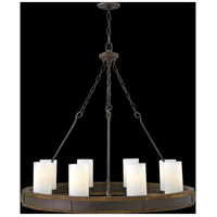 Fredrick Ramond FR48439IRN Cabot 8 Light 38 inch Rustic Iron Chandelier Ceiling Light, Single Tier alternative photo thumbnail