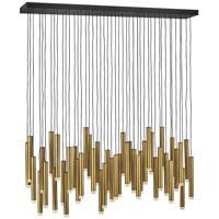 Fredrick Ramond FR49909HBR Harmony LED 48 inch Heritage Brass/Black Chandelier Ceiling Light