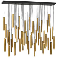 Fredrick Ramond FR49909HBR Harmony LED 48 inch Heritage Brass with Black Linear Chandelier Ceiling Light alternative photo thumbnail