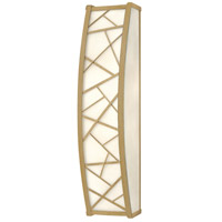Fredrick Ramond Nest 2 Light Sconce in Silver Leaf with White Scavo Glass FR52202SLF
