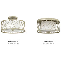 Fredrick Ramond FR41611SLF Nest 2 Light 17 inch Silver Leaf Flush Mount Ceiling Light alternative photo thumbnail
