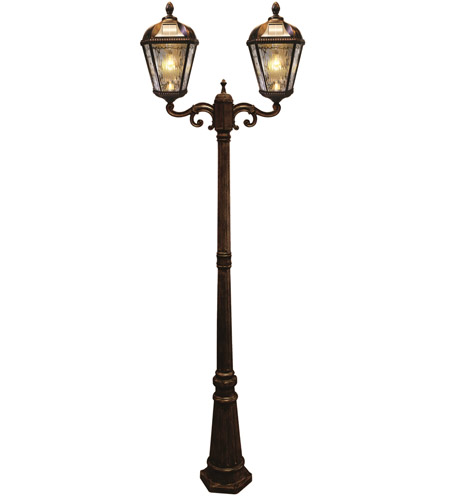 Gama Sonic GS-98B-D-BB Royal LED 89 inch Brushed Bronze Solar Lamp Post photo thumbnail