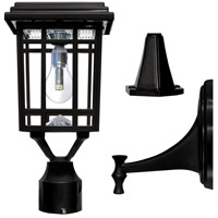 Gama Sonic 114B033 Prairie LED 14 inch Black Post Lighting