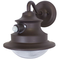 Gama Sonic 122PIR01 Barn Light LED 9 inch Brown Wall Lanterns Wall Light