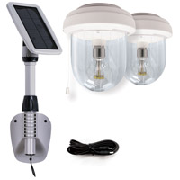 Light My Shed IV 7 inch Black and White Solar Light
