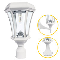 White Aluminum Post Lights & Accessories