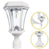 Gama Sonic 94B233 Victorian LED 15 inch White Post Lighting