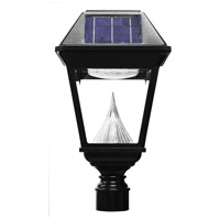 "Gama Sonic GS-97NF Imperial II 19 inch Black Solar Light with 3"" Fitter"