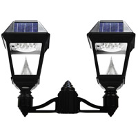 "Gama Sonic GS-97NF2 Imperial II 22 inch Black Solar Light with 3"" Fitter"