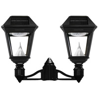 Gama Sonic 97NF20 Imperial II LED 28 inch Black Lamp Post Set