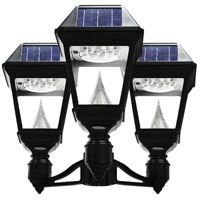 "Gama Sonic GS-97NF3 Imperial II 22 inch Black Solar Light with 3"" Fitter"