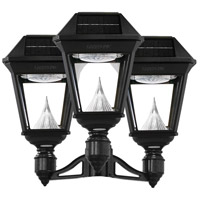 Gama Sonic 97NF30 Imperial II LED 28 inch Black Lamp Post Set