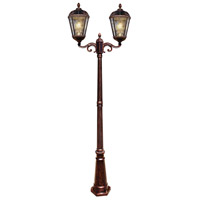 Gama Sonic 98B102 Royal LED 89 inch Brushed Bronze Lamp Post Set