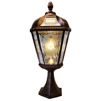 Royal Bulb LED 23 inch Brushed Bronze Solar Post Light