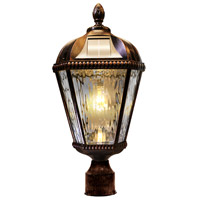 """Gama Sonic GS-98B-F-BB Royal Bulb 18 inch Brushed Bronze Solar Light with 3"""" Fitter"""