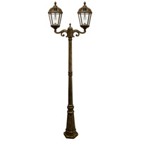 Gama Sonic 98B302 Royal LED 89 inch Weathered Bronze Lamp Post Set