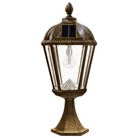 Gama Sonic GS-98B-P-WB Royal Bulb LED 23 inch Weathered Bronze Solar Post Light