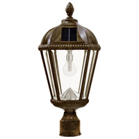 "Gama Sonic GS-98B-F-WB Royal Bulb 18 inch Weathered Bronze Solar Light with 3"" Fitter"