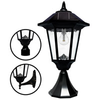 "Gama Sonic GS-99M-FPW Windsor Morph 20 inch Black Solar Light with 3"" Fitter"