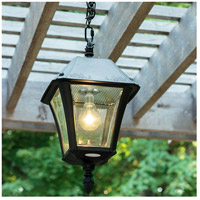 Gama Sonic GS-105B-CX Baytown II LED 10 inch Black Solar Hanging Light