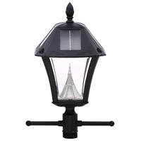 Baytown II LED 77 inch Black Solar Lamp Post, with EZ-Anchor Base