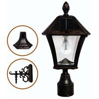 Gama Sonic GS-106B-FPW-BB Baytown 17 inch Brushed Bronze Solar Lamp