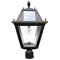 "Gama Sonic GS-300F Regal 23 inch Black Solar Lamp with 3"" Fitter"