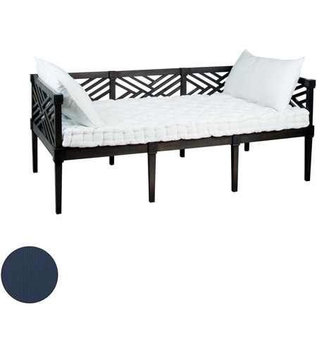 Guildmaster 2317007s No Teak 71 X 38 Inch Navy Outdoor Daybed Cushion Set Of 3