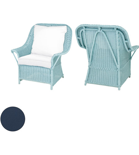 Guildmaster 2317008s No Rattan 24 X 22 Inch Navy Outdoor Patio Chair Cushion Set