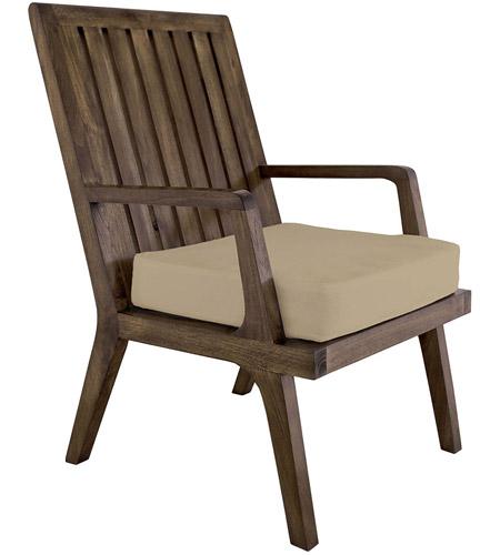 Teak 20 X 18 Inch Cream Outdoor Cushion