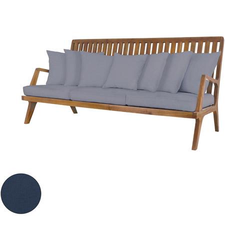 Teak 26 X 20 Inch Navy Outdoor Sofa