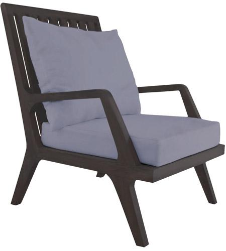 Teak 24 X 23 Inch Gray Patio Lounge