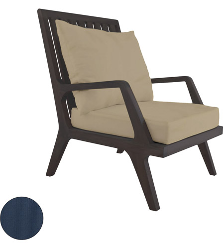 Guildmaster 2317012s No Teak Patio 24 X 23 Inch Navy Outdoor Lounge Chair Cushion Set Of 2