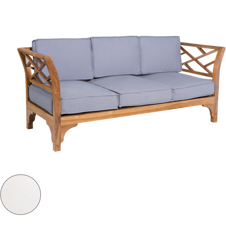 Guildmaster 2317505s Wo Patio Branch 68 X 26 Inch Outdoor White Sofa Cushion