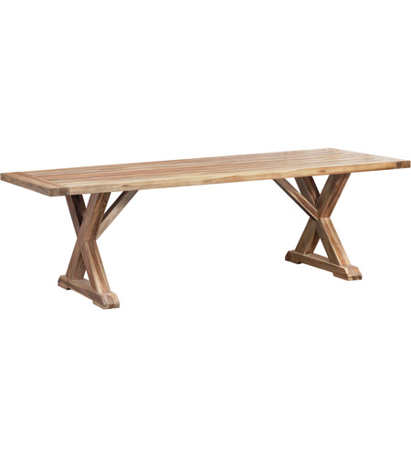Guildmaster 6118501 The Grove 96 X 40 inch Euro Teak Oil Outdoor Trestle Table photo