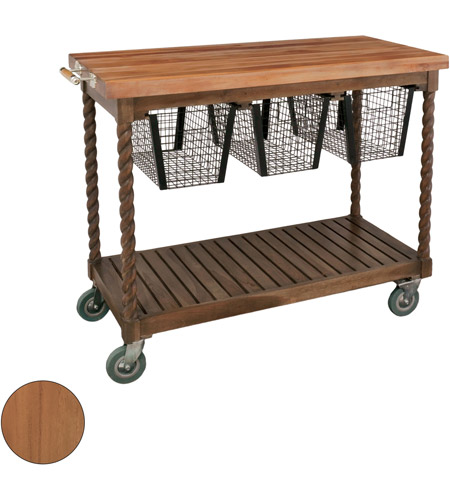 Guildmaster 6317003ET Teak Patio Euro Teak Oil Outdoor Serving Cart photo