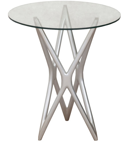Guildmaster 7116553 Signature 24 X 15 Inch Silver Leaf Side Table Photo
