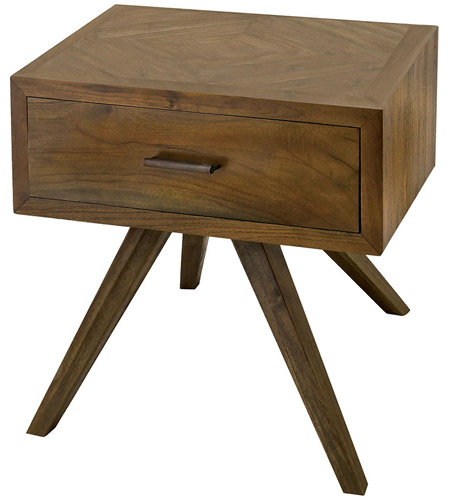 Side Table Wit.Guildmaster 7117011bu Teak Patio 20 Inch Burnt Umber Outdoor Side Table