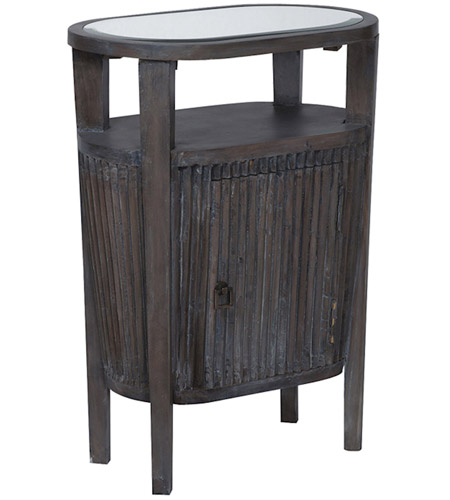 Guildmaster 713024 Berkshire 30 X 22 Inch Heritage Dark Grey Stain Accent Table