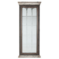 Guildmaster 1016001 Crossroads 72 X 30 inch European White with Garden Gate and Worn Pewter Floor Mirror