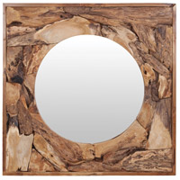 Root Square 36 X 36 inch Natural Mirror Home Decor