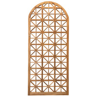 Teak Lattice Euro Teak Oil Outdoor Floor Mirror, Arched