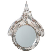 Belle Grove 36 X 27 inch Crackle White Wall Mirror